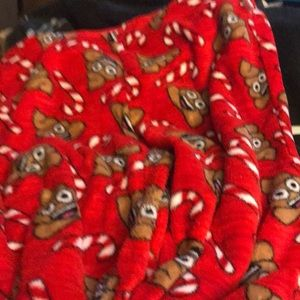 Other - Poop emoji and candy cane pajama pants